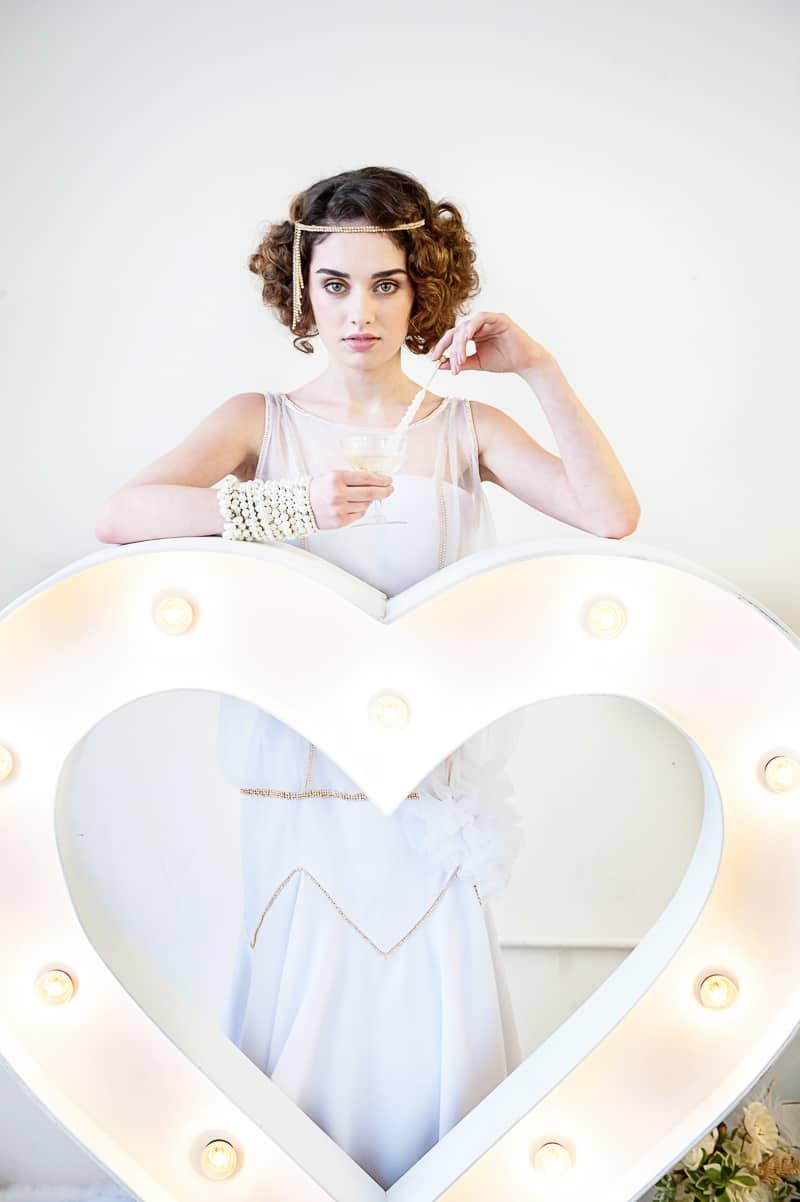 VAUDEVILLE VALENTINE Wedding inspiration Art Deco 1920s theme broadway bright lights and feathers_-32