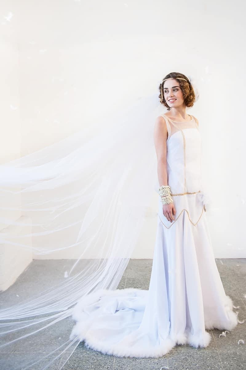 VAUDEVILLE VALENTINE Wedding inspiration Art Deco 1920s theme broadway bright lights and feathers_-39