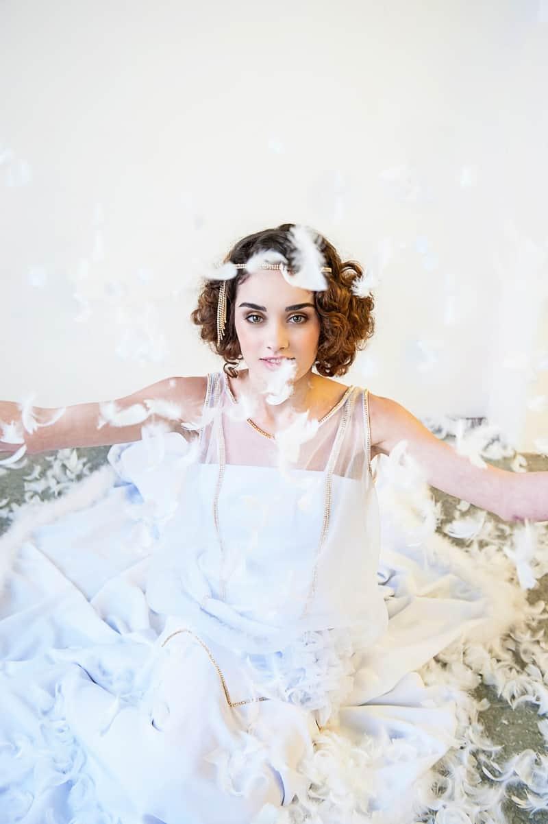 VAUDEVILLE VALENTINE Wedding inspiration Art Deco 1920s theme broadway bright lights and feathers_-43