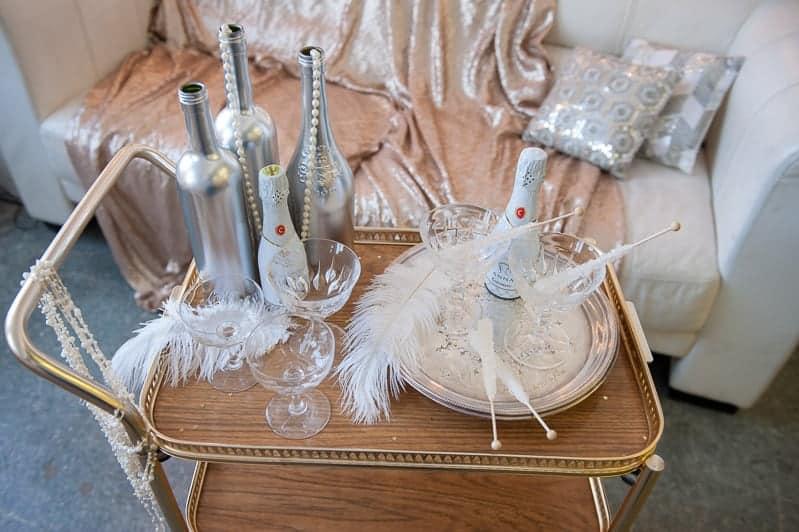 VAUDEVILLE VALENTINE Wedding inspiration Art Deco 1920s theme broadway bright lights and feathers_-7