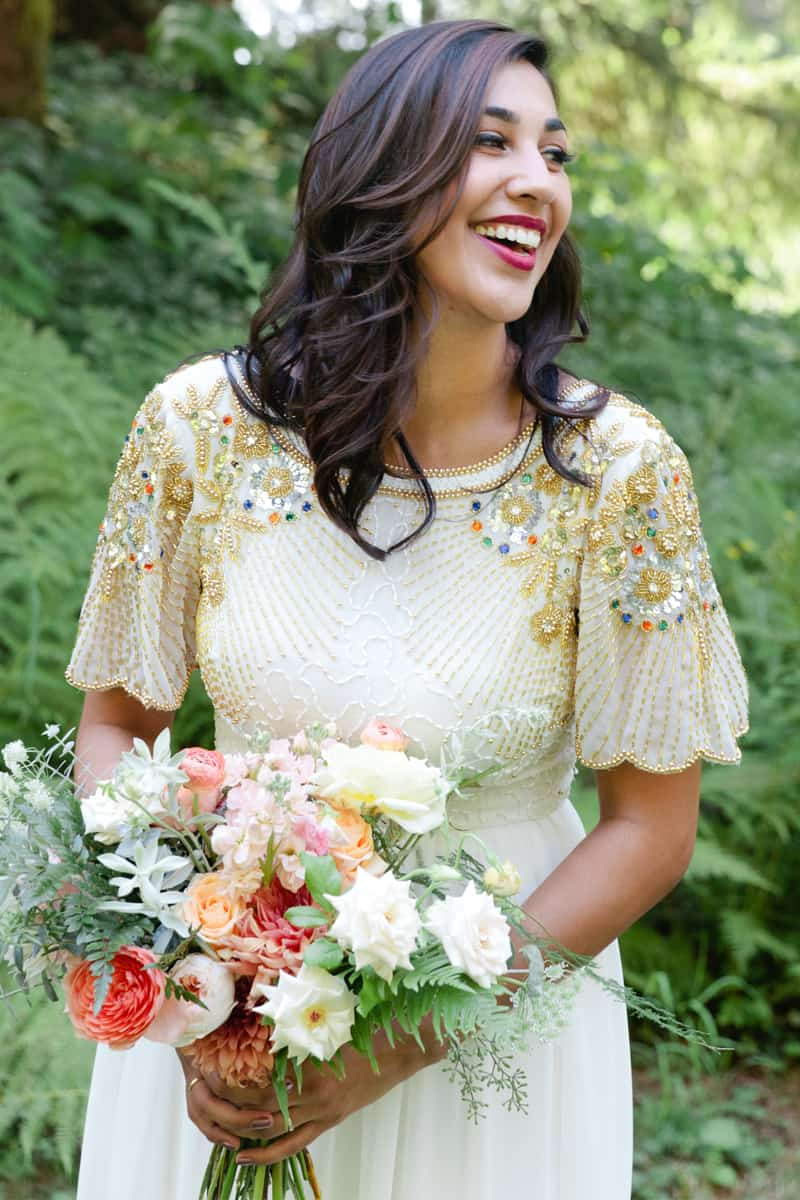 A WHIMSICAL OUTDOOR WEDDING IN PORTLAND FEATUIRNG CATS COLOURS & POLKA DOTS (13)
