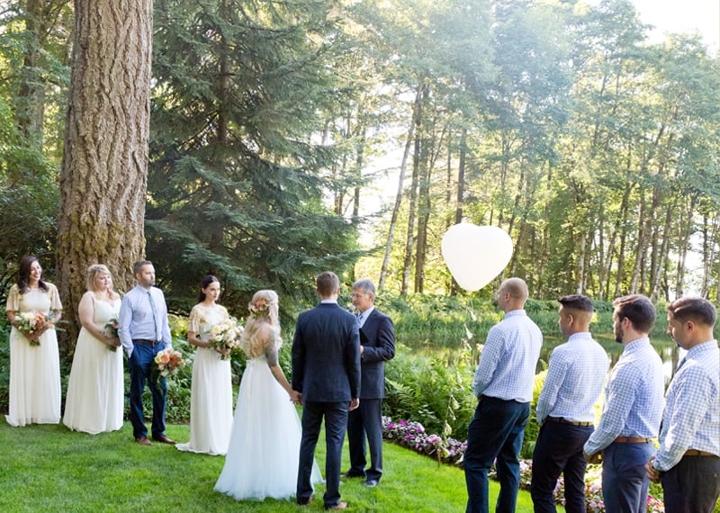 A WHIMSICAL OUTDOOR WEDDING IN PORTLAND FEATUIRNG CATS COLOURS & POLKA DOTS (25)