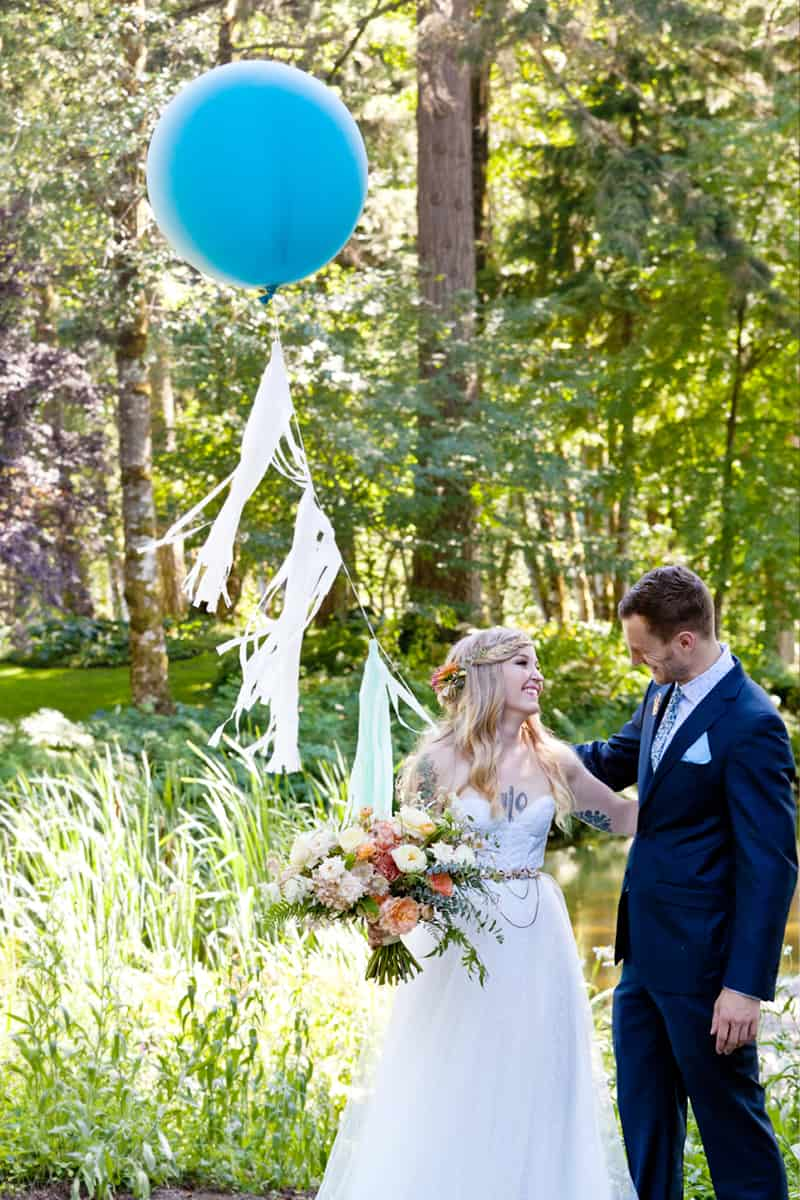 A WHIMSICAL OUTDOOR WEDDING IN PORTLAND FEATUIRNG CATS COLOURS & POLKA DOTS (7)