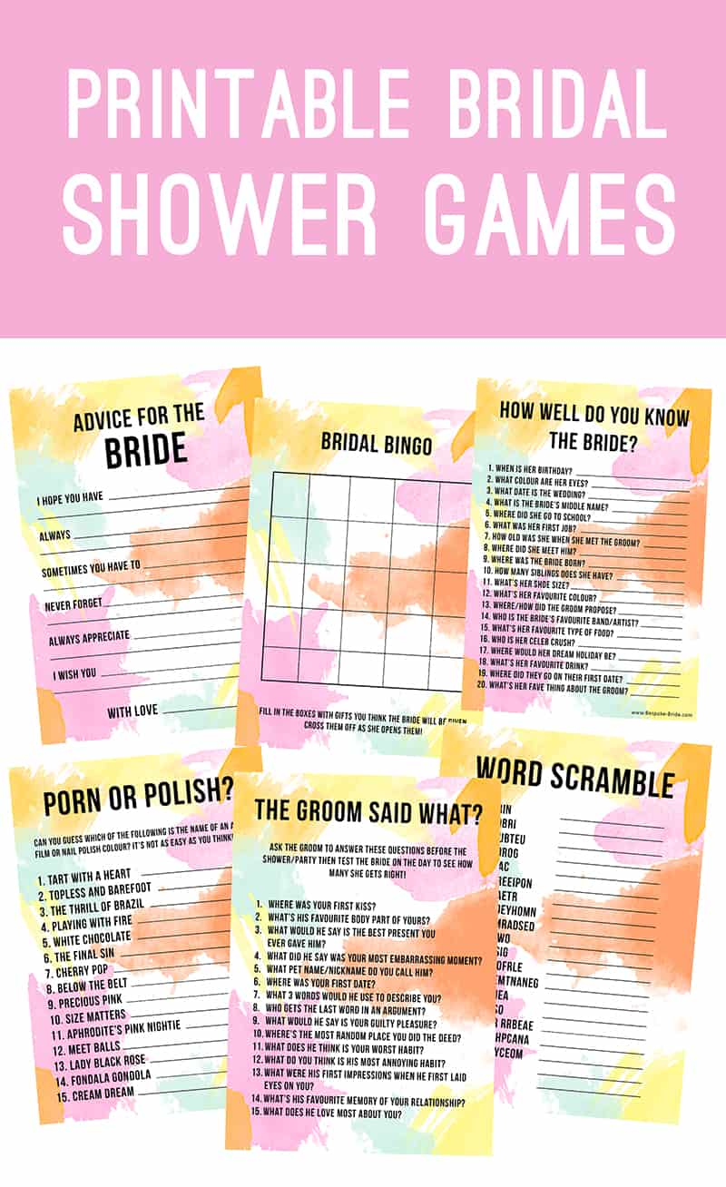 Stupendous image in free printable bridal shower games how well do you know the bride