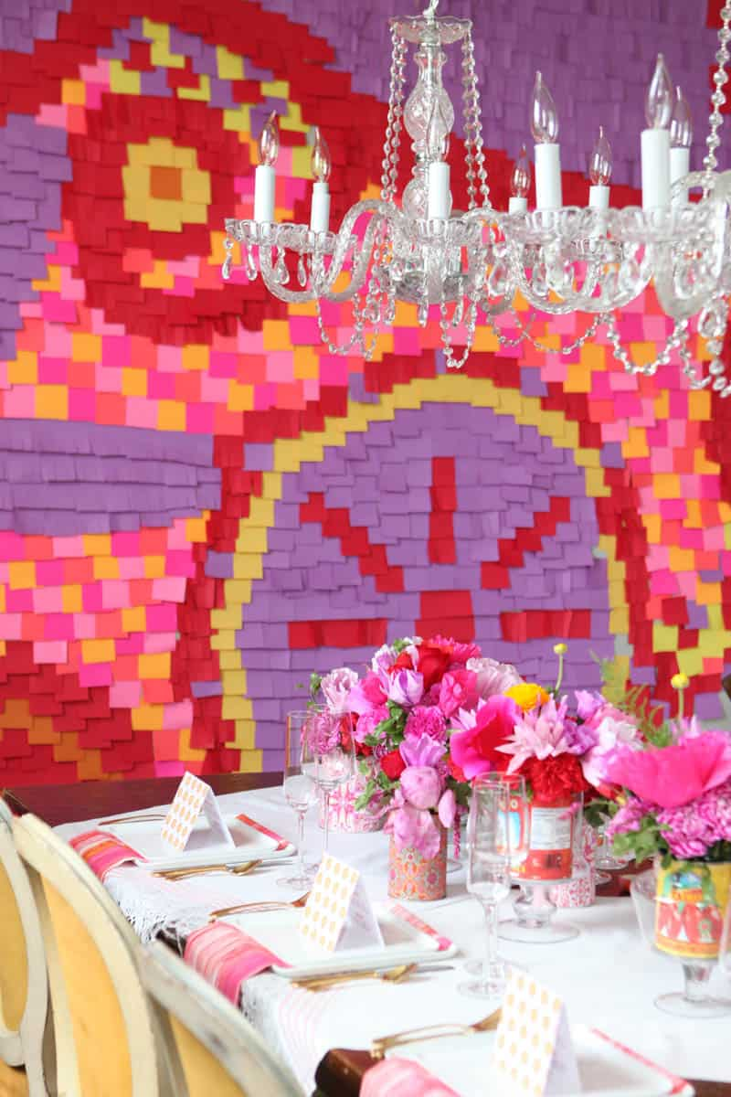 CREATIVE AND COLOURFUL STYLED WEDDING WITH PAPER FLOWERS AND PAPER BACKDROP (9)