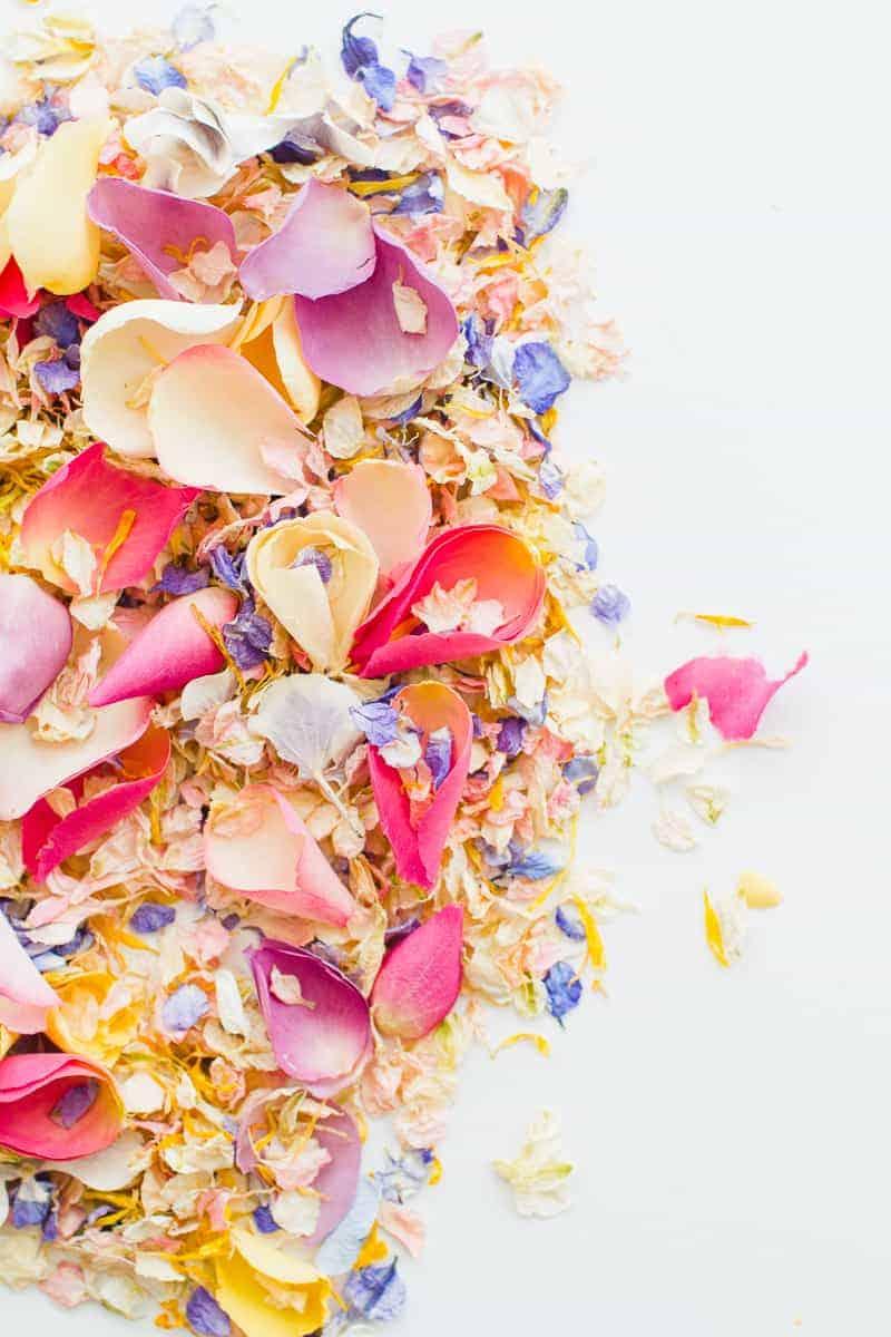 Confetti cone free printable pink abstract download natural confetti petals shropshire petals colourful wedding inspiration-17