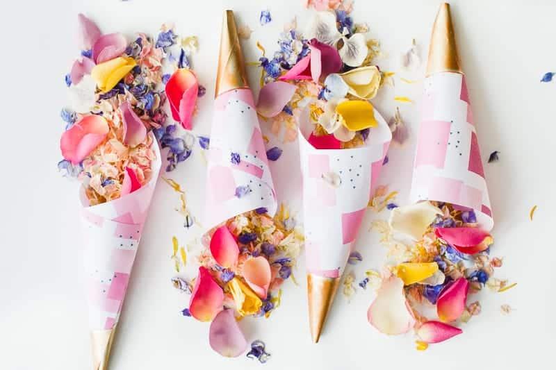 Confetti cone free printable pink abstract download natural confetti petals shropshire petals colourful wedding inspiration-2
