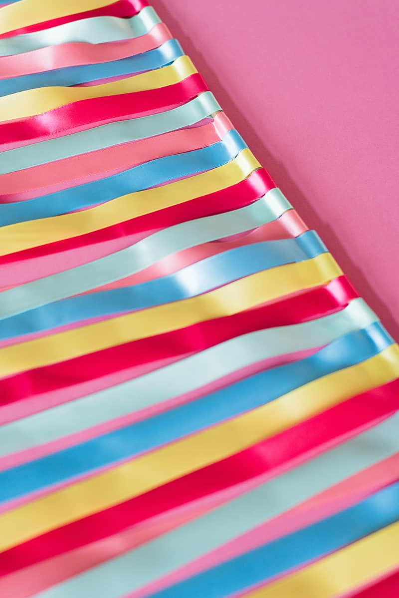 DIY colourful ribbon table plan unique alternative escort cards-14