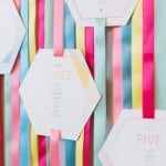 THIS RIBBON TABLE PLAN IS THE PERFECT DIY FOR COLOUR LOVERS!