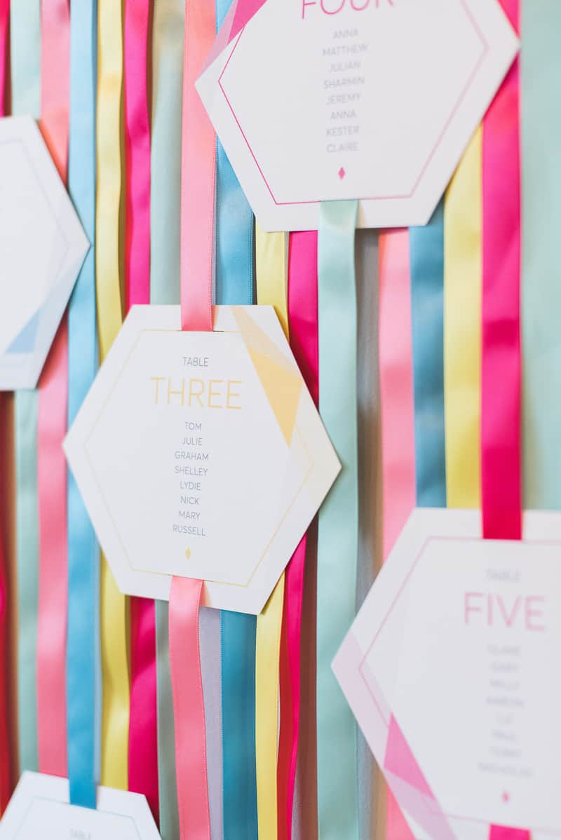 This Ribbon Table Plan Is The Perfect Diy For Colour