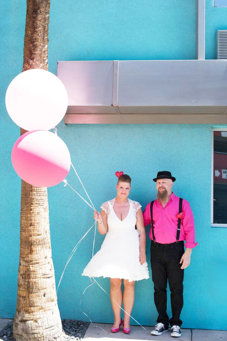 Heart crown PINK-TO-MAKE-THE-BOYS-WINK-AN-ECLECTIC-LAS-VEGAS-ELOPEMENT-42