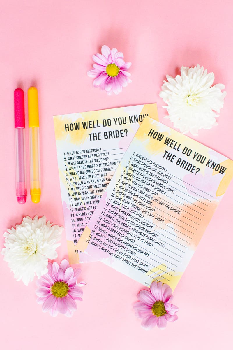graphic regarding Free Printable Bridal Shower Games How Well Do You Know the Bride known as Totally free PRINTABLE HOW Perfectly DO Yourself Recognize THE BRIDE? Rooster Social gathering