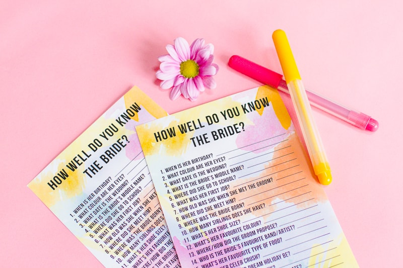 How well do you know the bride bachelorette Game bridal shower hen party quiz-4