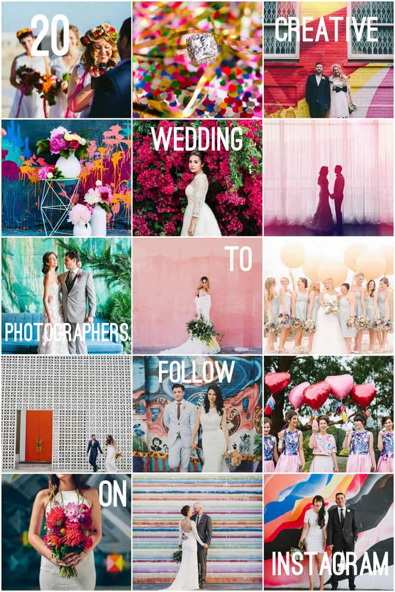 20 CREATIVE WEDDING PHOTOGRAPHERS TO FOLLOW ON INSTAGRAM