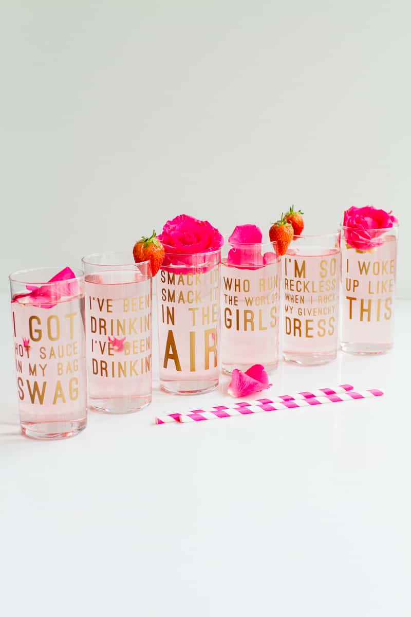 Diy Beyonce Lyric Quote Cocktail Glasses Fun Feminist