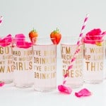 DIY BEYONCE LYRIC GLASSES (AKA COCKTAILS AND A WHOLE LOTTA QUEEN B!)
