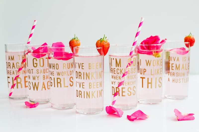 Diy beyonce lyric quote cocktail glasses fun feminist drinks for diy beyonce lyric glasses aka cocktails and a whole lotta queen b stopboris Choice Image