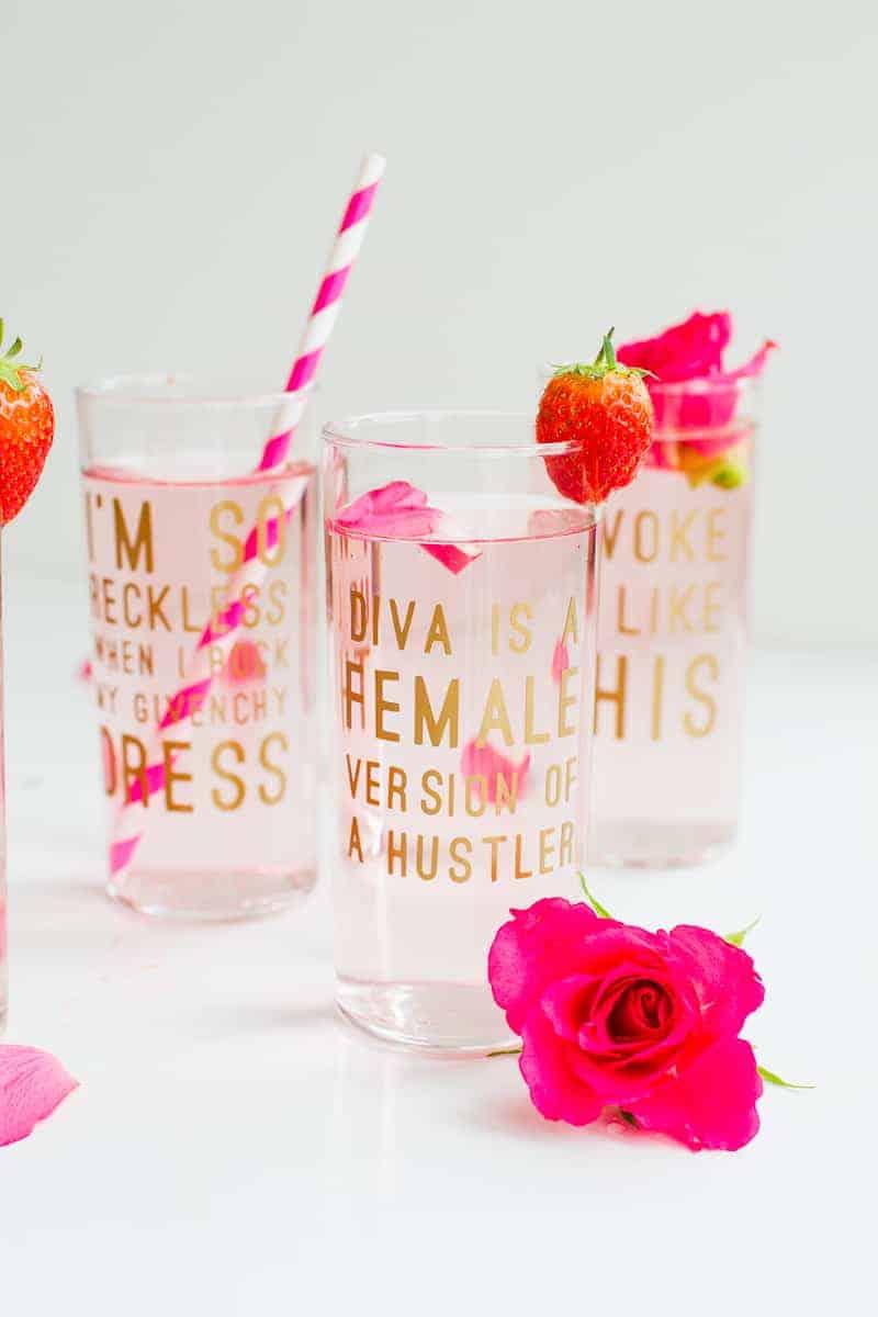 Diy Beyonce Lyric Quote Cocktail Glasses Fun Feminist