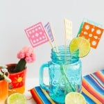 MAKE THESE PAPEL PICADO DRINK STIRRERS FOR CINCO DE MAYO