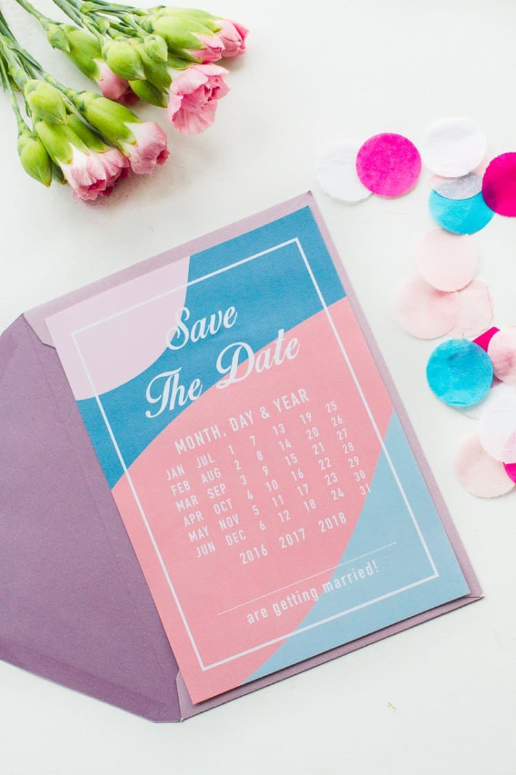Free-Printable-download-save-the-dates-modern-pink-blue-colour-scheme-calendar-3