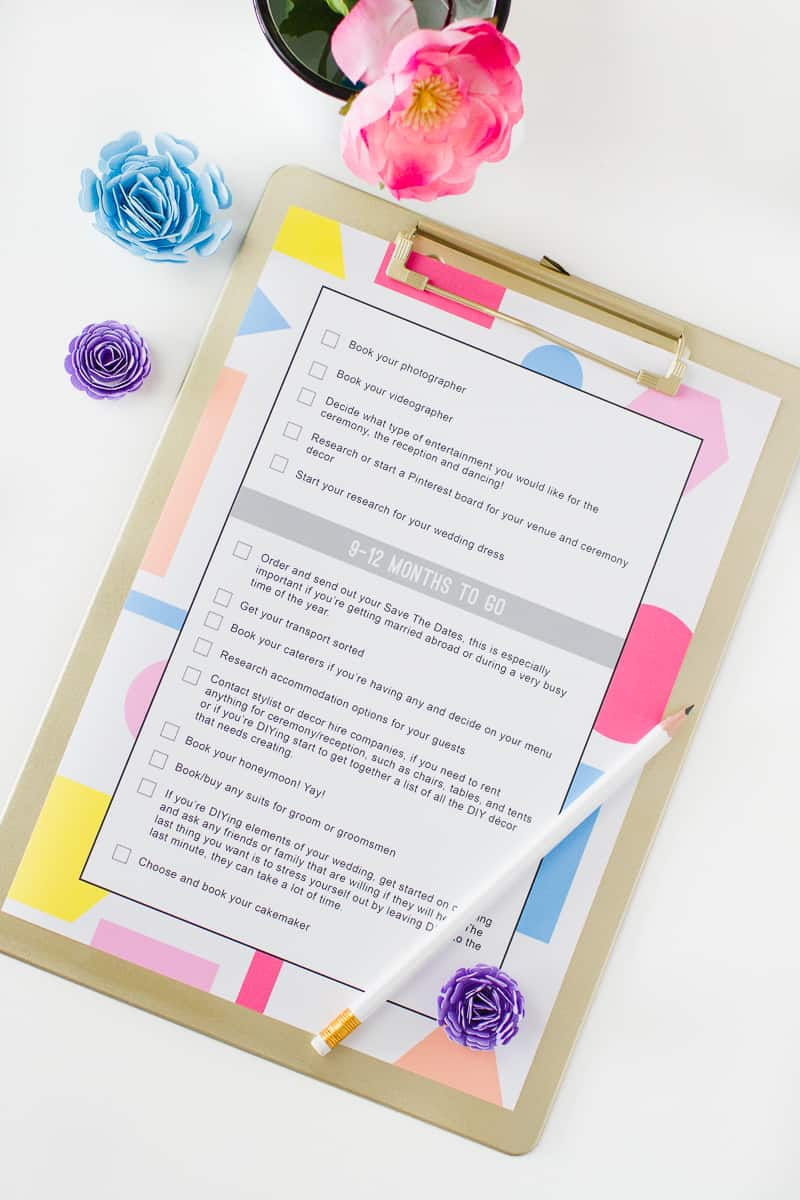 Wedding Checklist to do list free printable download wedding planning guide timeline_-4