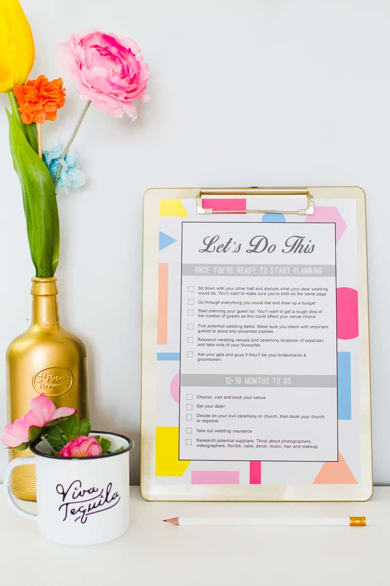 Wedding Checklist to do list free printable download wedding planning guide timeline_