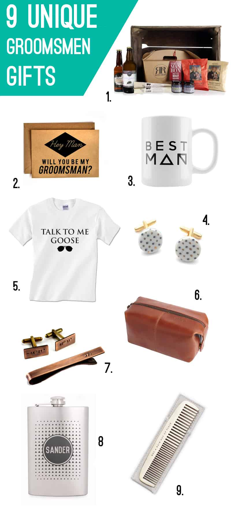 Unique Wedding Gifts For Groomsmen: 9 UNIQUE GIFTS FOR GROOMSMEN