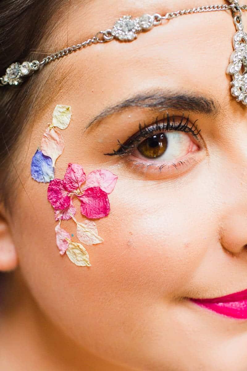 Flower Tattoos Temporary Festival Wedding Inspiration Ideas How to DIY confetti shropshire petals glastonbury style-10