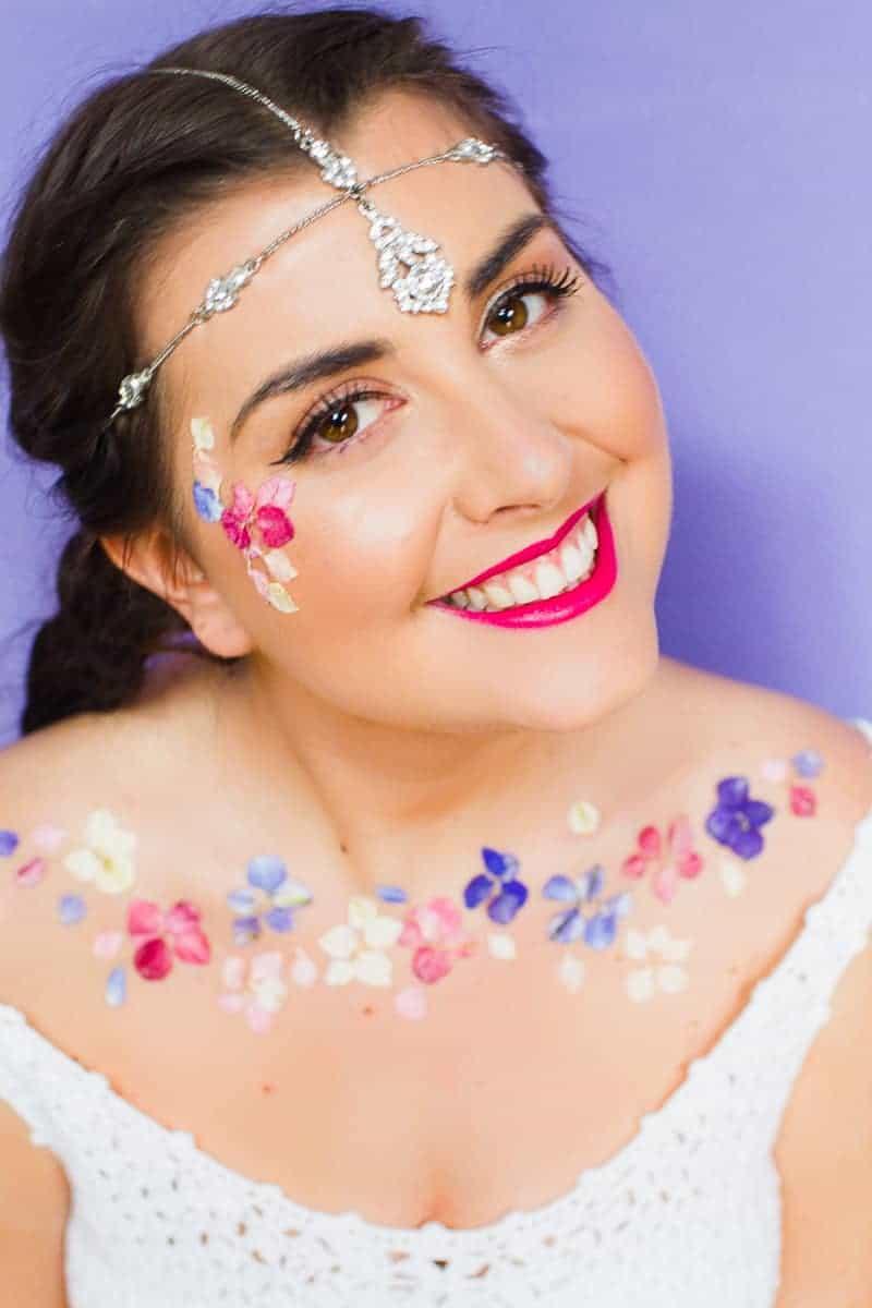 Flower Tattoos Temporary Festival Wedding Inspiration Ideas How to DIY confetti shropshire petals glastonbury style-6