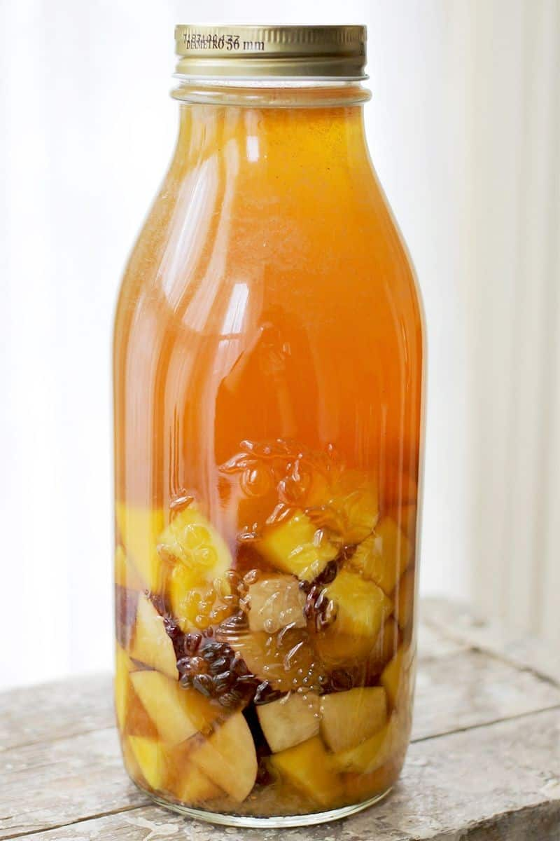 Mango & Plum Sweet Tea Cocktail - A Beautiful Mess