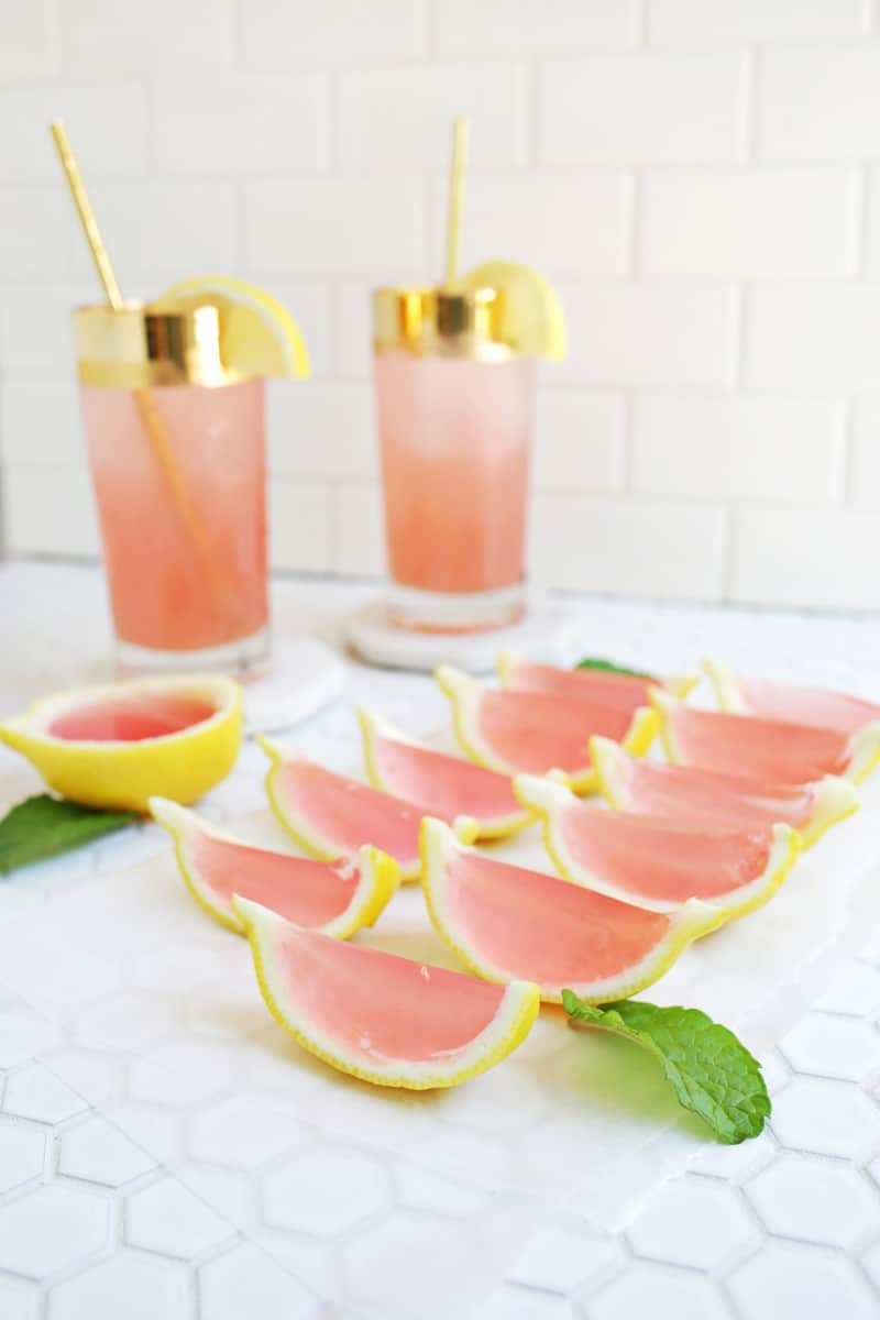 Pink Lemonade Jello Shots - A Beautiful Mess