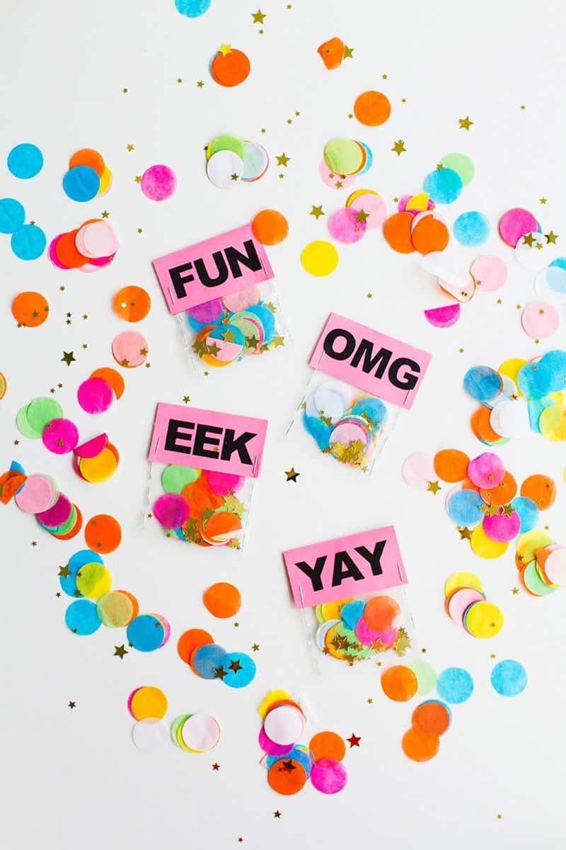 quick & easy wedding DIY'S-Slogan-Confetti-Bags-6