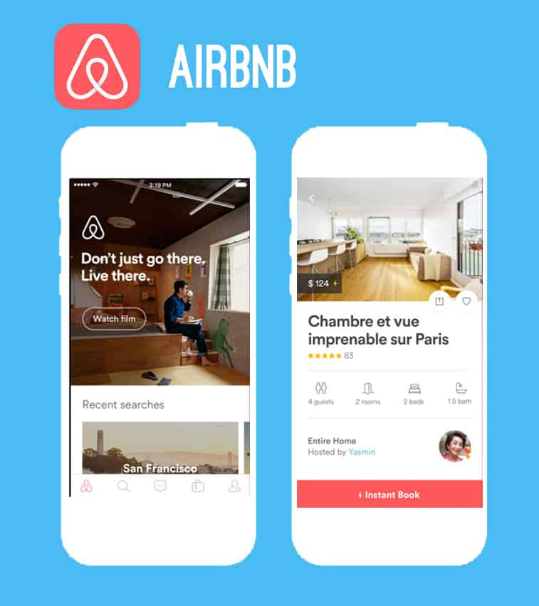 Air Bnb honeymoon app
