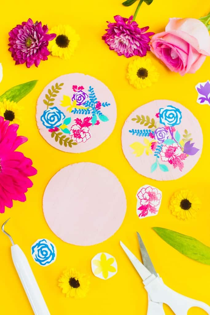Diy Floral Coasters For Your Table Decor Or Wedding
