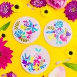 DIY FLORAL COASTERS FOR YOUR TABLE DECOR!