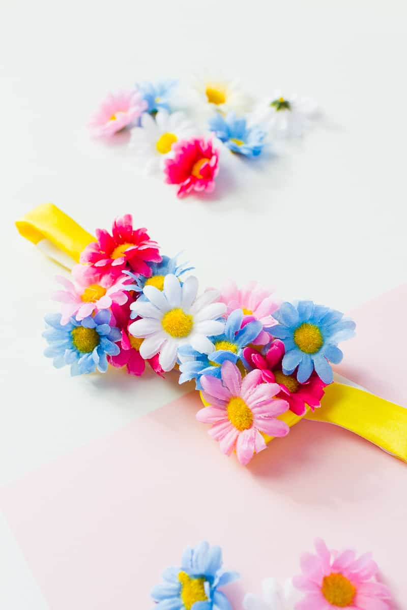 Floral Flower Bow Tie DIY Tutorial Summer Spring Wedding Groomswear Fashion Daisy-7