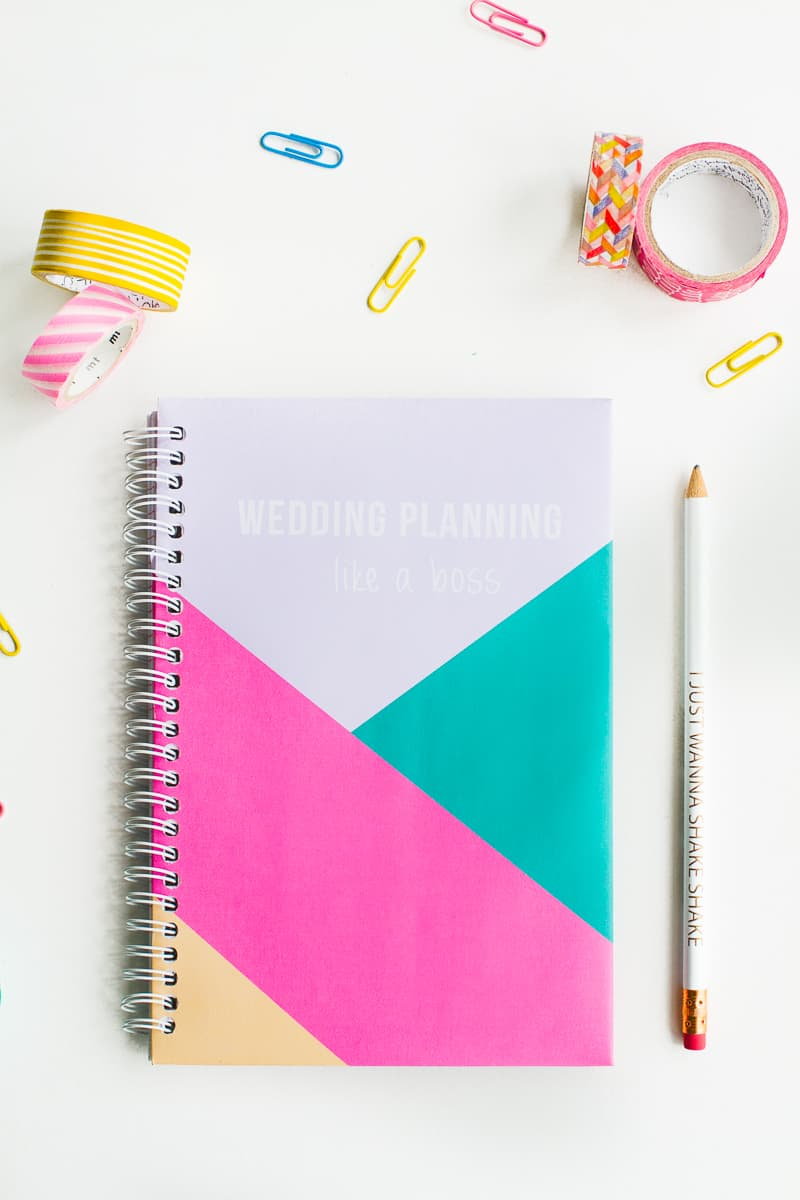 Free printable notebook cover wedding planning geometric modern notes stationery-3