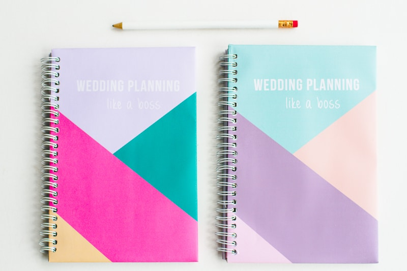 graphic about Printable Notebook Covers named Take YOUR Wedding day Laptop PLANNER WITH GEOMETRIC Totally free