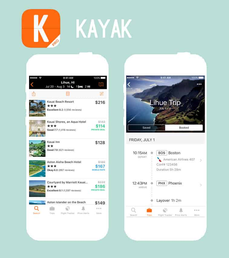 Kayak Honeymoon App