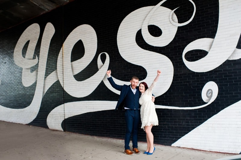SWEET NYC, BROOKLYN BRIDGE ELOPEMENT COLOURFUL WALL MURALS (12)