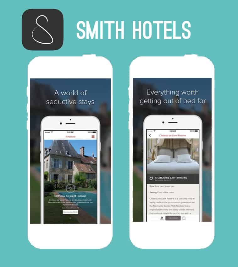 Smith Hotels honeymoon app
