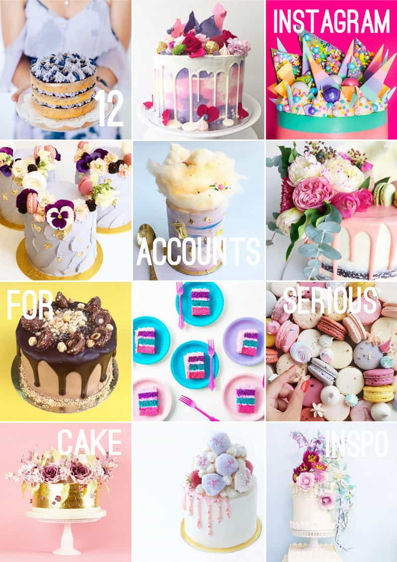 12 BAKERS TO FOLLOW ON INSTAGRAM FOR SERIOUS WEDDING CAKE INSPIRATION
