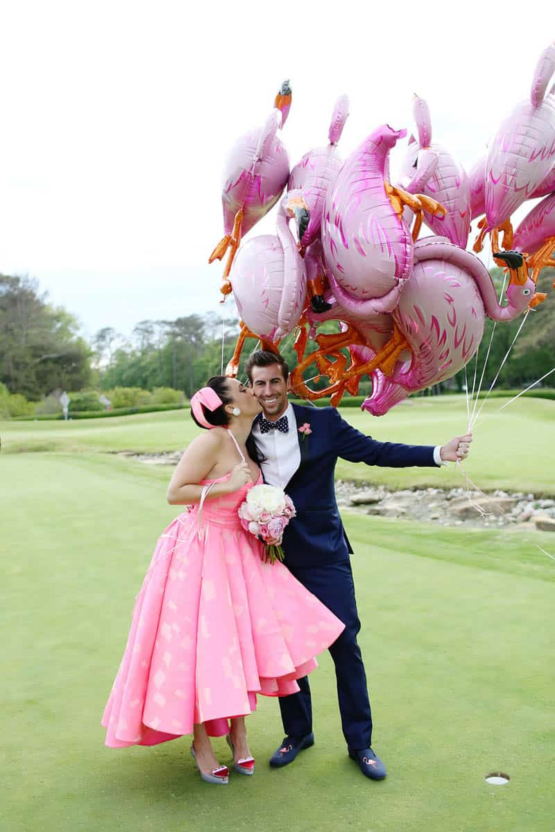 A FUN FLAMINGO EXTRAVAGANZA WEDDING WITH INFLUENCE FROM KATY PERRY AND GRAY MALIN (8)