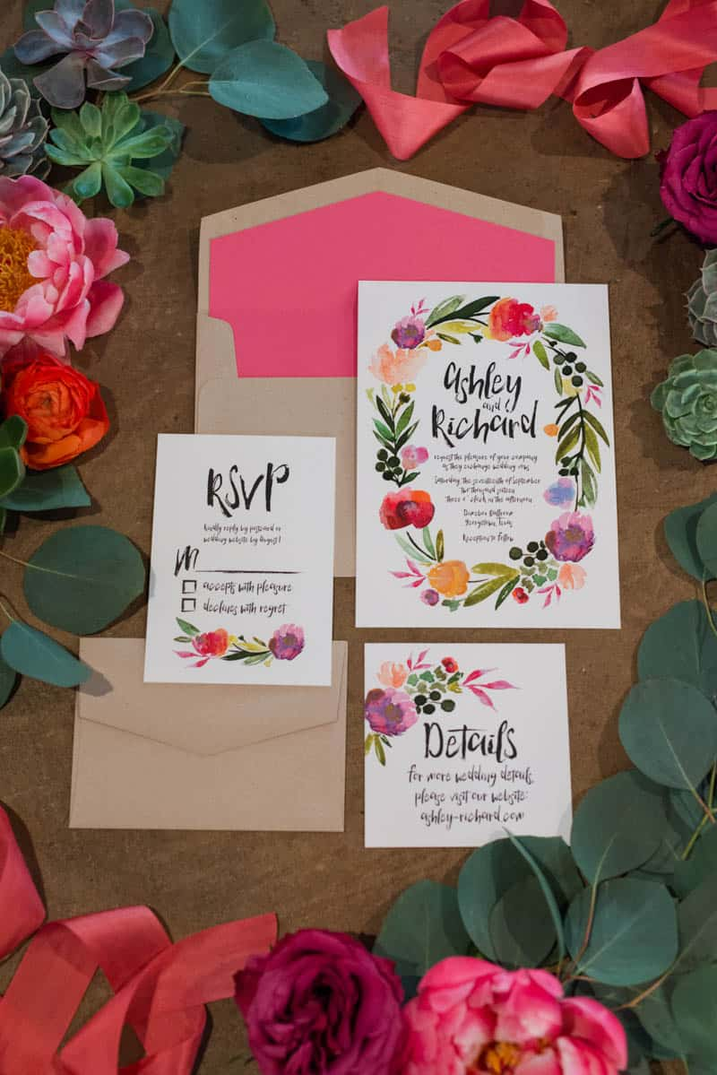 BOLD & VIBRANT HOT PINK CORAL BOHEMIAN STYLING WEDDING IDEAS (22)