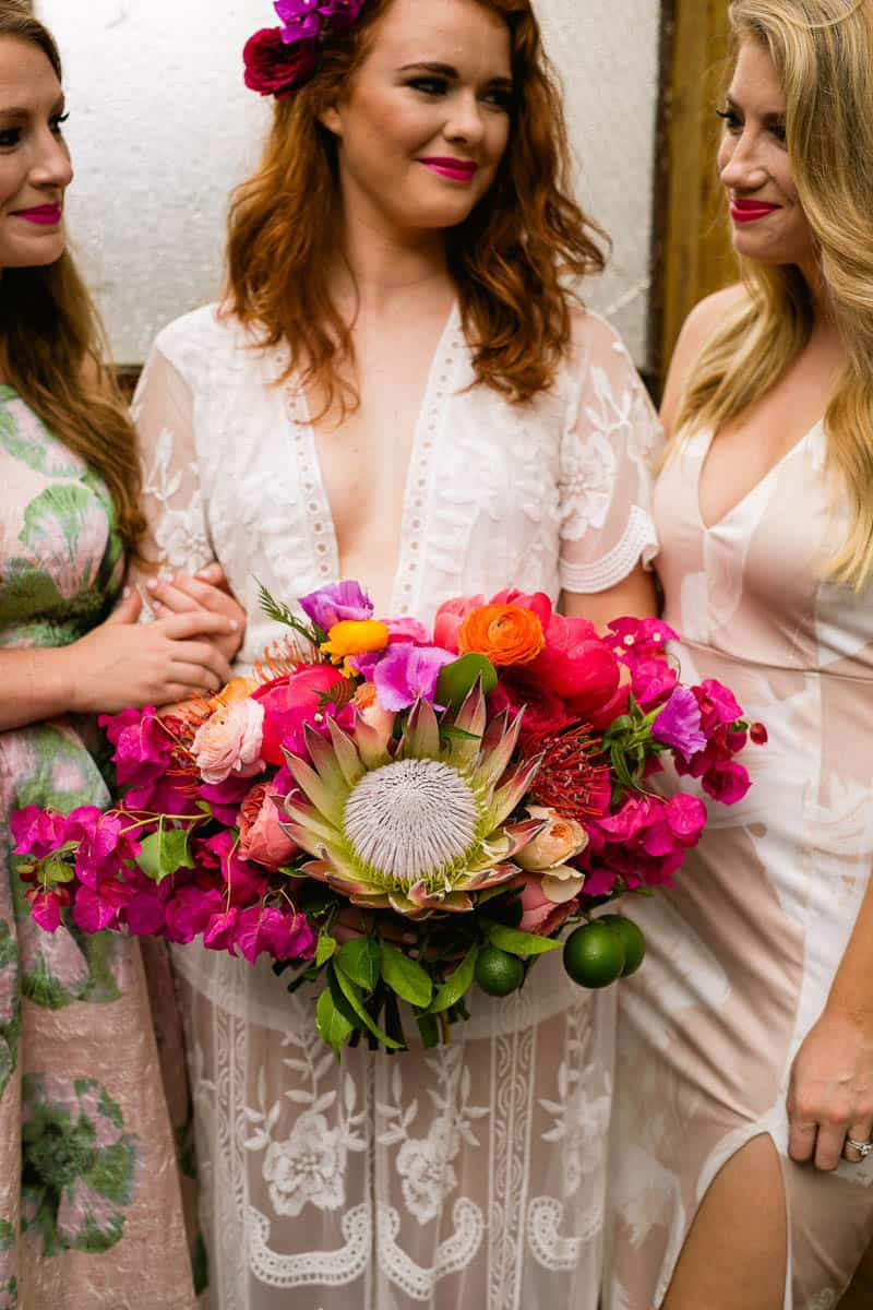 COLOURFUL TROPICAL PINK BRIDAL SHOWER WITH RAINBOW DESSERTS (19)