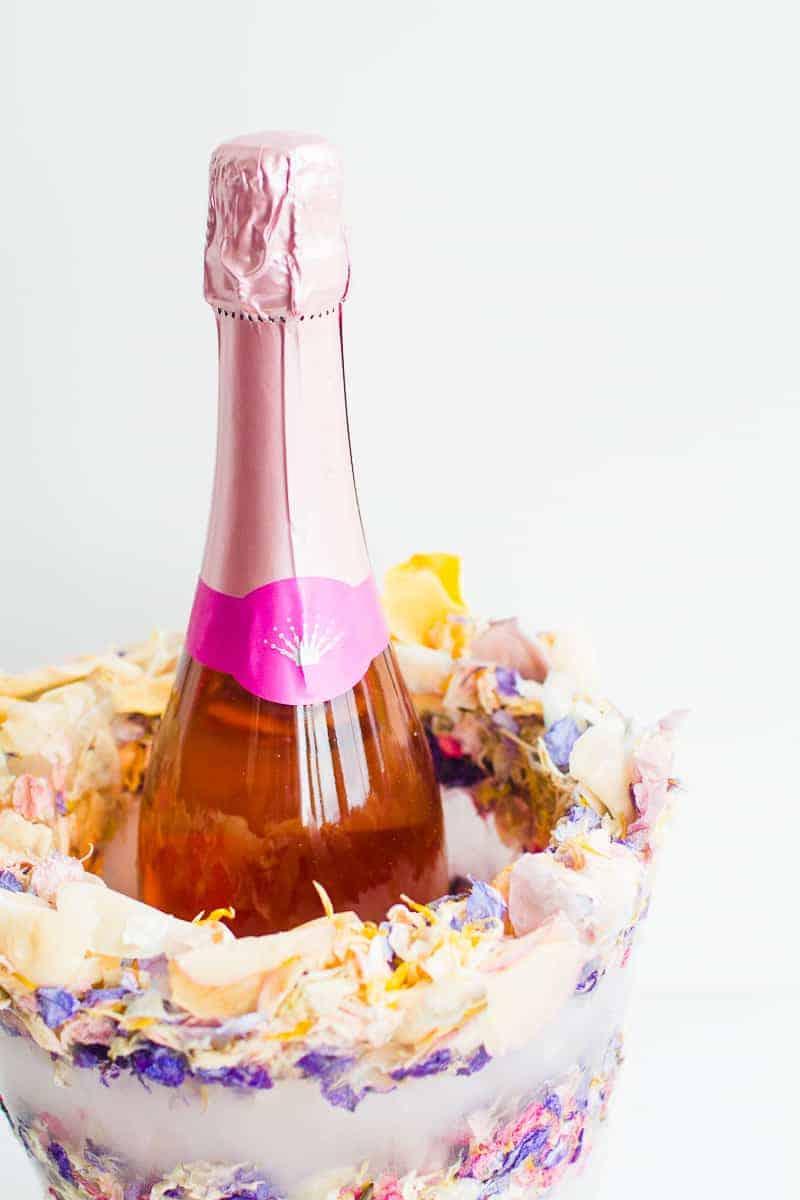 Diy Floral Confetti Ice Bucket Bespoke Bride Wedding Blog
