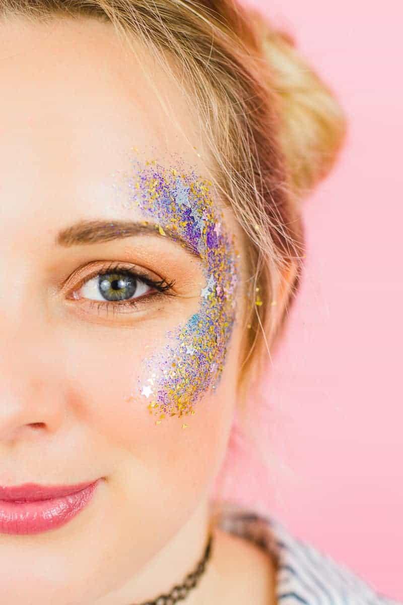 make your own glitter station for your festival wedding