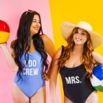 DIY SLOGAN SWIMSUITS FOR YOUR 'I DO CREW' !