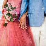THIS BRIDE LOOKED LIKE A REAL LIFE CINDERELLA IN A PINK VERA WANG WEDDING GOWN