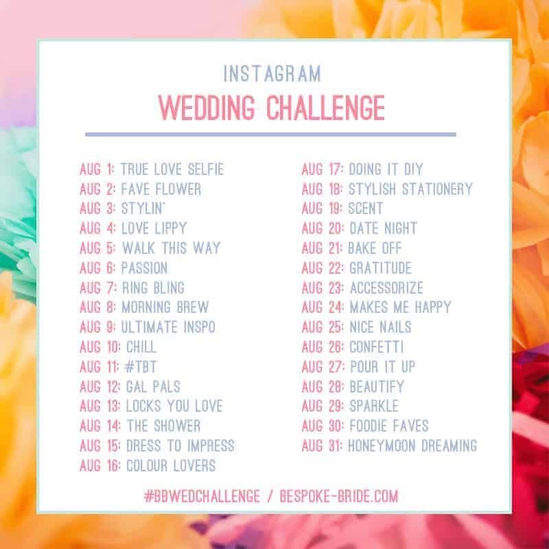 Wedding Instagram Challenge Bespoke Bride BBWEDCHALLENGE 2